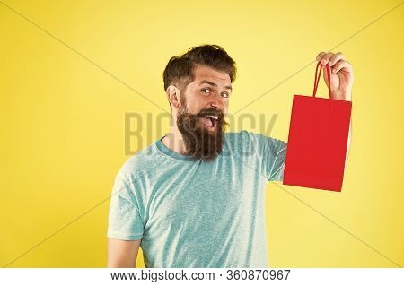 Best Offer. Man With Gift Package. Buy Product. Little Pleasantness. Bearded Man Go Shopping. Mall F