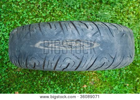 worn out motorcycle tire