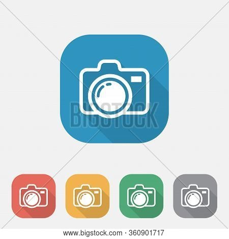 Camera Icon Design On White Background.camera And Photography Icons, Camera Symbol For Your Web Site