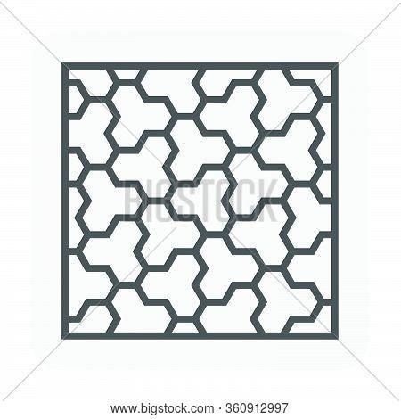 Concrete Paver Block Floor Icon, Editable Stroke.