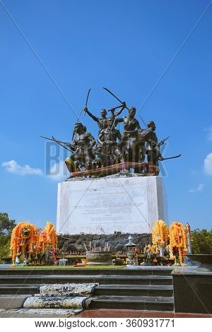 Sing Buri, Thailand - November 17, 2019 : The Monument Of Bang Rachan Heroes In Khai Bang Rachan, Si