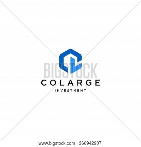 Modern And Clean Logo Design Of Letter C And L With White Background - Eps10 - Vector.