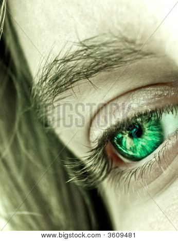 Green Eye Closeup