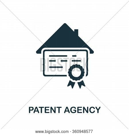 Patent Agency Icon. Simple Illustration From Digital Law Collection. Creative Patent Agency Icon For