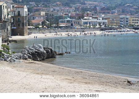 Beach Of Cefalu.sicily