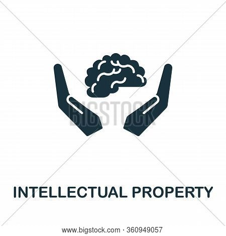 Intellectual Property Icon. Simple Illustration From Digital Law Collection. Creative Intellectual P