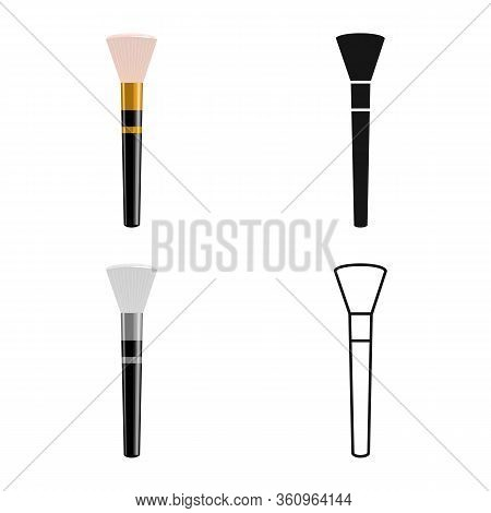 Isolated Object Of Brush And Tassel Sign. Graphic Of Brush And Paintbrush Stock Symbol For Web.