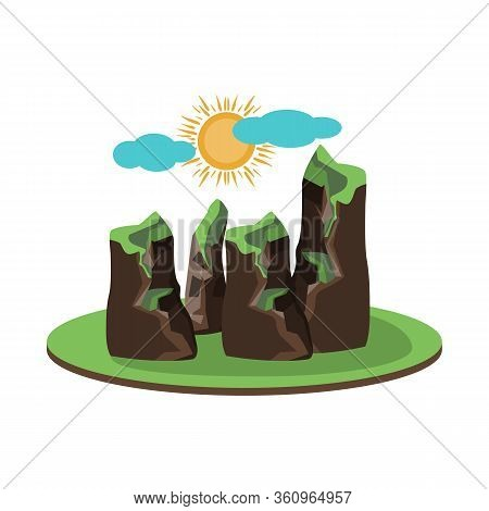 Vector Design Of Rock And Bay Sign. Collection Of Rock And Vietnamese Stock Vector Illustration.