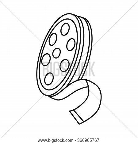 Vector Illustration Of Reel And Movie Icon. Web Element Of Reel And Film Stock Vector Illustration.