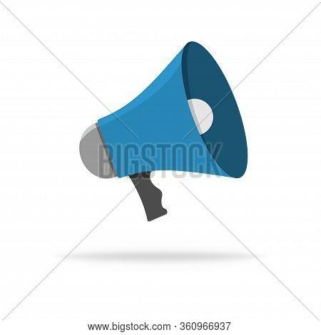 Speaker Vector Icon. Loudspeaker Or Megaphone Illustration. Sound Flat Icon. Shout Loud Alert Messag