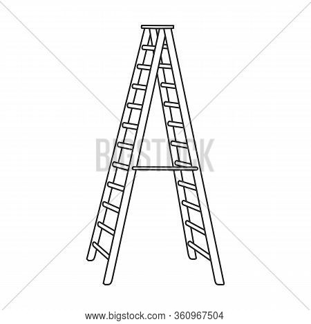 Ladder Vector Icon.outline Vector Icon Isolated On White Background Ladder.