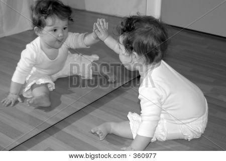 High Five Mirror Bw