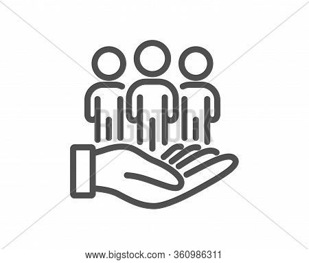 Best Buyers Line Icon. Customers Group Sign. Care Of Clients Symbol. Quality Design Element. Editabl