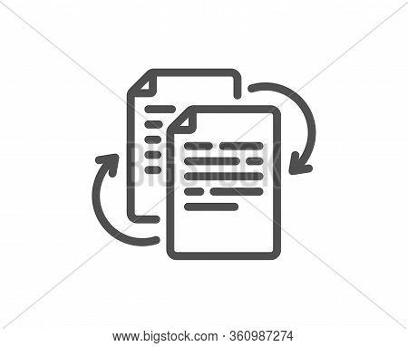 Documents Workflow Line Icon. Doc File Page Sign. Bureaucracy Symbol. Quality Design Element. Editab