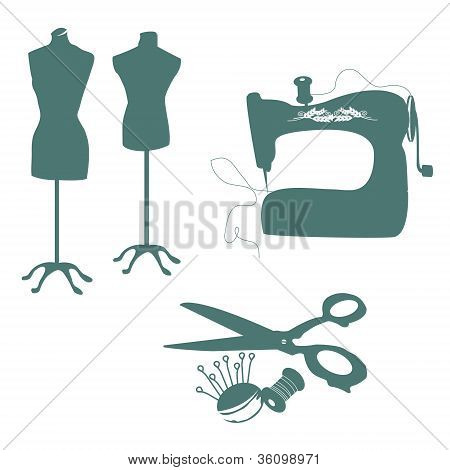 Set Of Sewing Tools