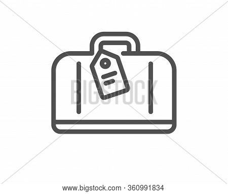 Airport Hand Baggage Reclaim Line Icon. Airplane Luggage Sign. Flight Checked Bag Symbol. Quality De