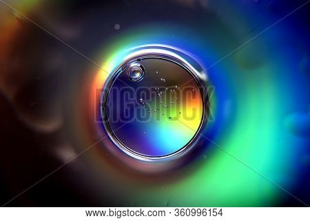 Colorful Abstract Shiny Background With A Circle.