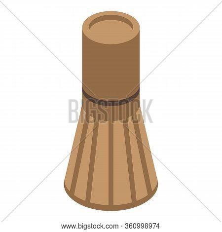 Tea Ceremony Bamboo Tool Icon. Isometric Of Tea Ceremony Bamboo Tool Vector Icon For Web Design Isol
