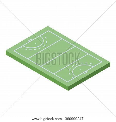 Field Hockey Area Icon. Isometric Of Field Hockey Area Vector Icon For Web Design Isolated On White