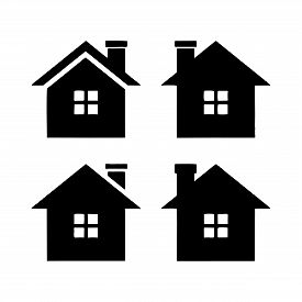 Home Icon Eps10, Home Vector Design On White Background, Vector Home Icon, House Icon, House Logo Ve