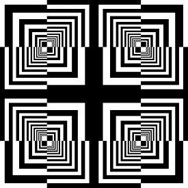 Abstract Arabesque Square Frame Black Cross Celtic Like Developement Project Design Black On Transpa