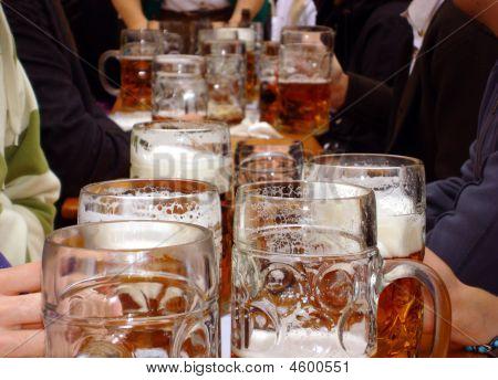 Beer At Munich Oktoberfest