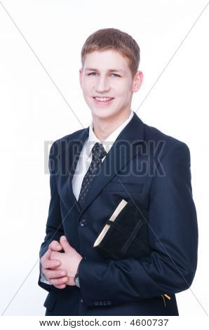 Handsome Man With Bible