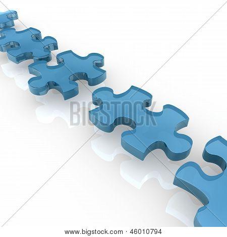 Glass Puzzle Pieces