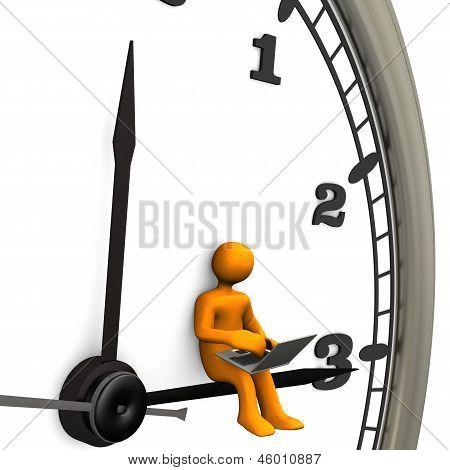 Big Clock Laptop