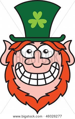 Shy St Patrick's Day Leprechaun