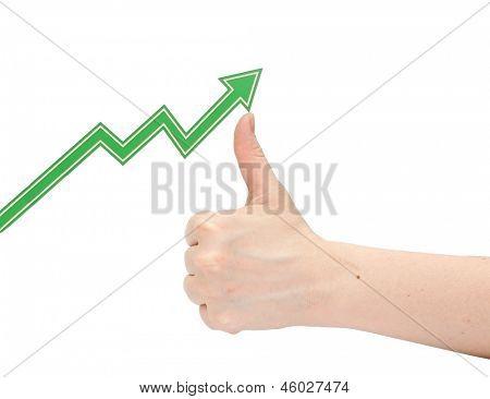 hand business graph
