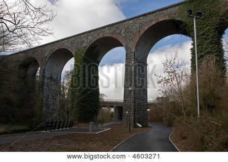 An Old Aquaduct In Ireland