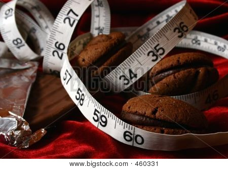 Chocolate Cookies Dieting Temptation