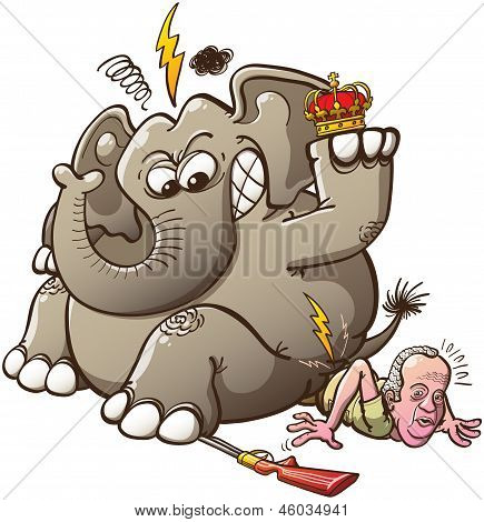 Spain's King Breaks his Hip while Hunting Elephants