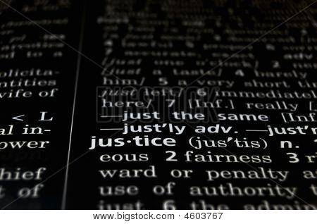 Justice Defined On Black