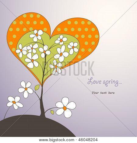 Heart Shaped Spring Tree