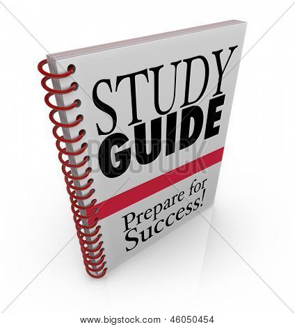 A study guide book cover for preparing for success on an exam for a class poster