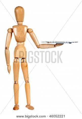 Wooden Dummy With Tray