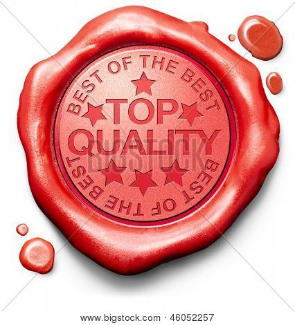 top quality best of best label red wax stamp icon confirmed qualities certificate 100% guaranteed product