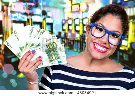 Beautiful Girl In Casino