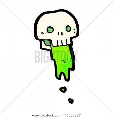 gross slimy skull cartoon