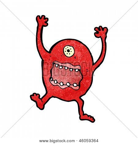 cartoon crazy monster poster