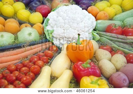 Fruits And Vegetable Display