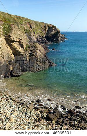 Caerfai Bay beach Pembrokeshire West Wales
