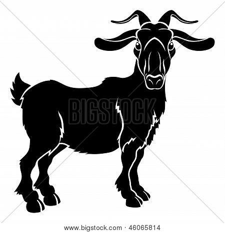 Stylised Goat Illustration
