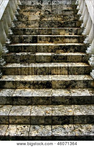 Stairs Step And Column Marble