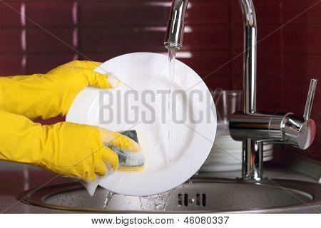 Dishwashing Process.