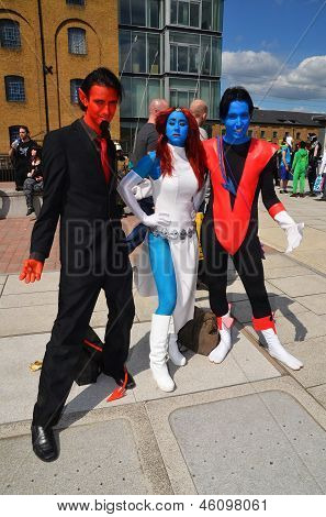 People Dress Up In Cosplay For The 2013 Mcm Expo In Londons Excel Centre 26Th May 2013