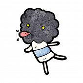 cute cartoon cloud head creature poster