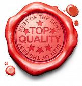 top quality best of best label red wax stamp icon confirmed qualities certificate 100% guaranteed product poster